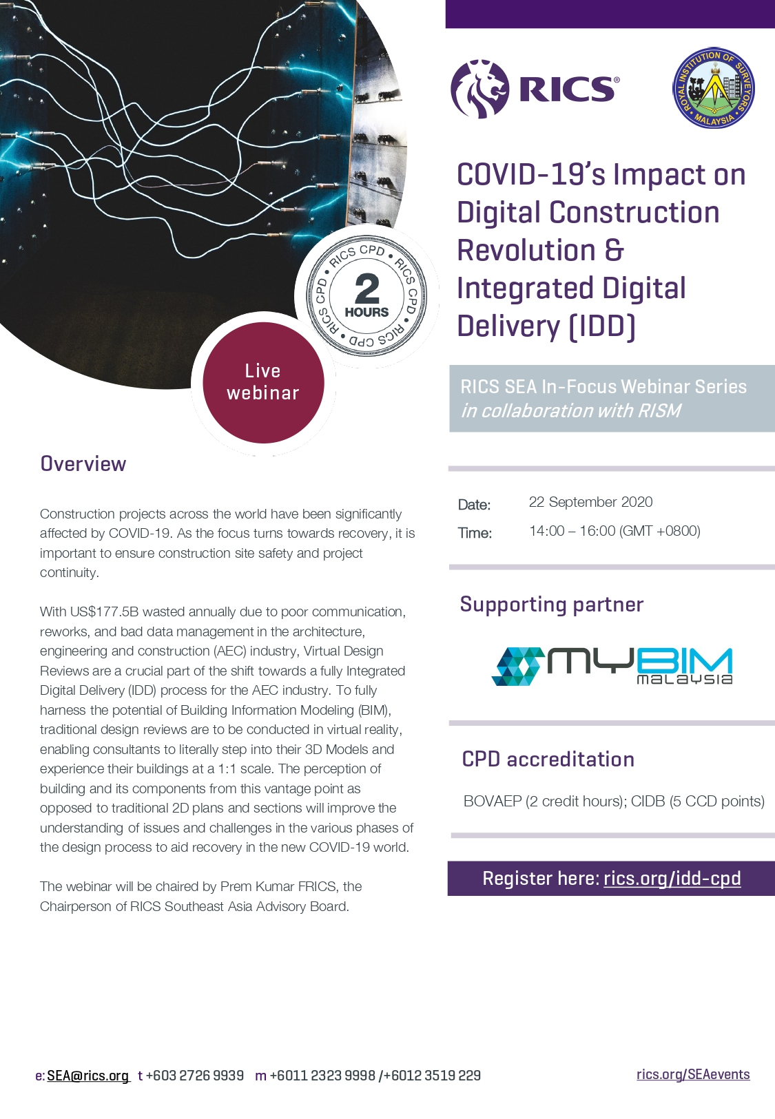 [RICS] COVID-19's Impact on Digital Construction Revolution & Integrated Digital Delivery (IDD)