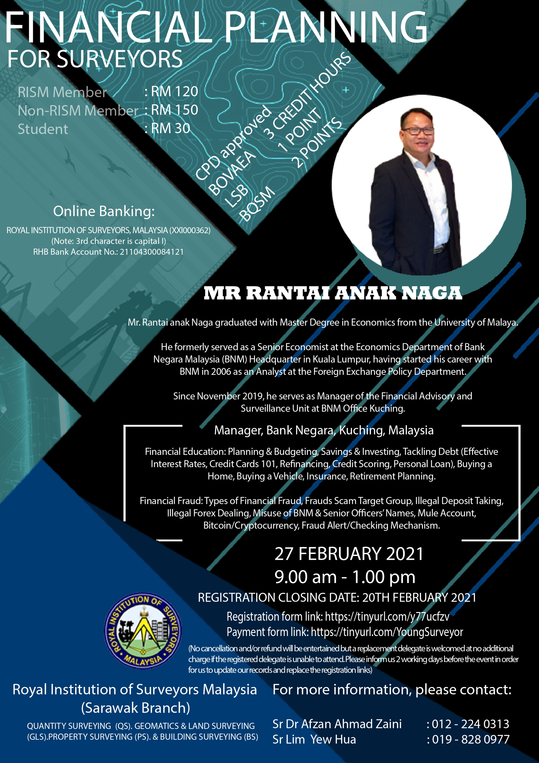 Seminar Financial Planning for Surveyors