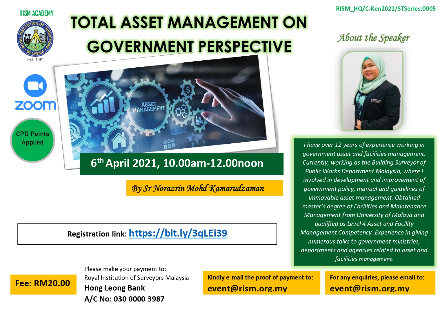 Total Asset Management on Government Perspective by RISM Academy @ ROYAL INSTITUTION OF SURVEYORS MALAYSIA   Petaling Jaya   Selangor   Malaysia
